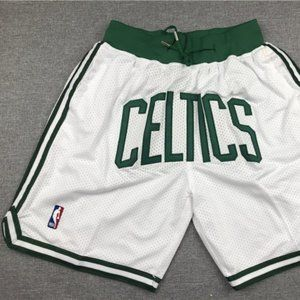 New Just Don NBA Boston Celtics Basketball Shorts2